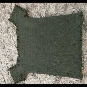 Hollister Dark Green Top!